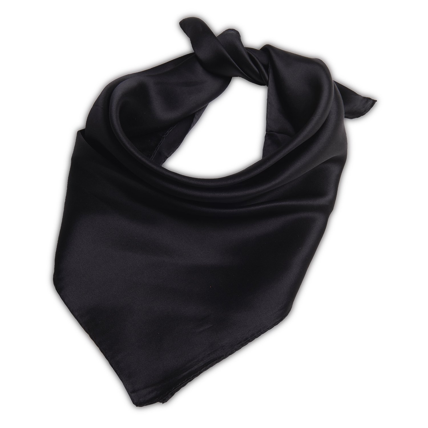 ba8f33f690f9e Silk Scarf Square Women Scarfs Solid Color Scarves Black at Amazon Women's  Clothing store: