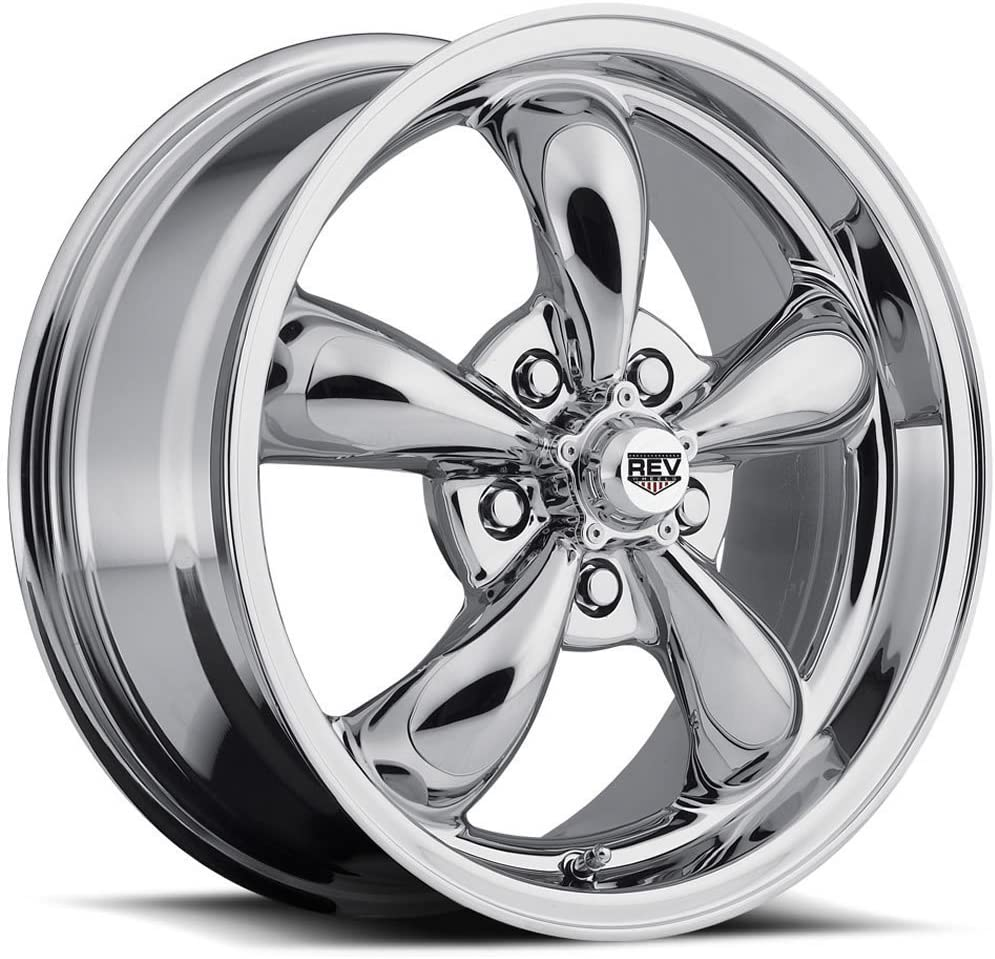 Rev Classic 100 15 Chrome Wheel Rim 5x4.5 with a 0mm Offset and a 72.7 Hub Bore Partnumber 100C-5706500