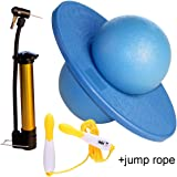 Pogo Ball with Large Pump- GreenMoon Lolo Ball with Gift Bag and Instruction(with Jump Rope)