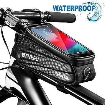 BTNEEU Bolsa Cuadro Bicicleta Impermeable con Pantalla Táctil ...