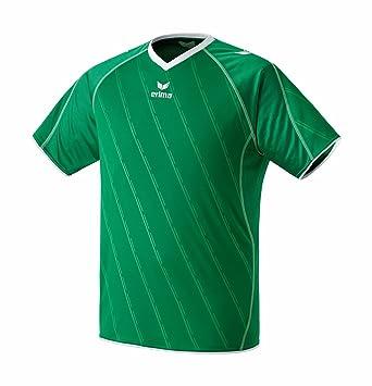 erima Trikot Roma - Camiseta de equipación de fútbol para hombre, color verde/blanco