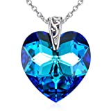 Amazon Price History for:Cuoka Sterling Silver Necklace Eternal Love Heart of the Ocean Blue Birthstone Pendant Jewelry