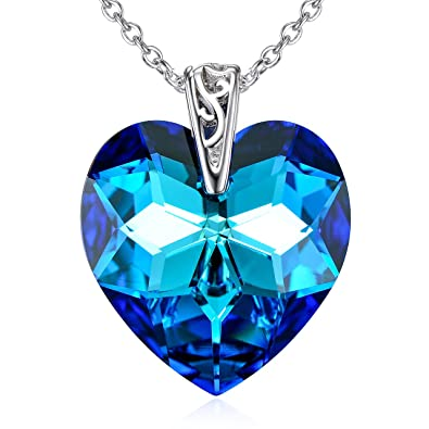 0a4ba7704c94f Heart of Ocean Pendant Necklaces Crystal Necklace Blue Necklace Wedding  Jewelry Bridesmaid Gift