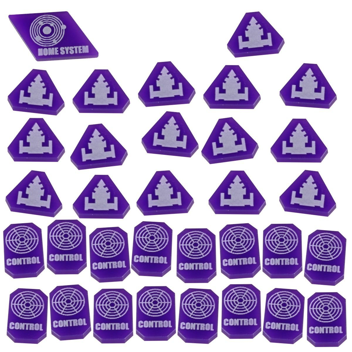 LITKO TI4: Command & Control Token Set, Purple (33) by LITKO