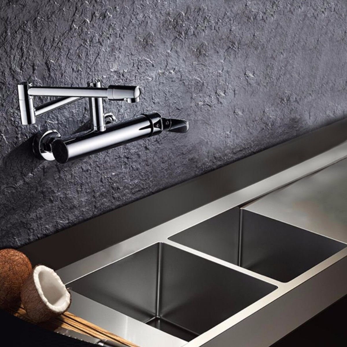 A A A XPYFaucet Faucet Tap Taps Folding wall-mounted kitchen hot and cold single-handle wall-mounted sink sink laundry pool can be redated, A 686c7a