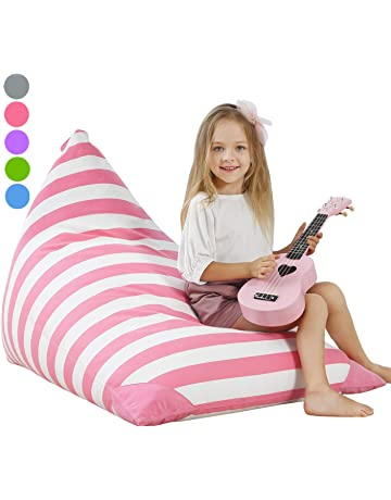 Aubliss Stuffed Animal Storage Bean Bag Chair - Plush Animal Toy Organizer  for Kids f8ad4bfc3895c