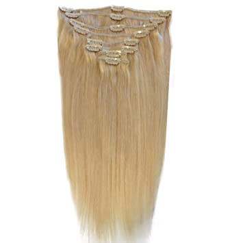 Amazon 14 inch bleach blonde 613 full head clip in human 14 inch bleach blonde 613 full head clip in human hair extensions pmusecretfo Image collections