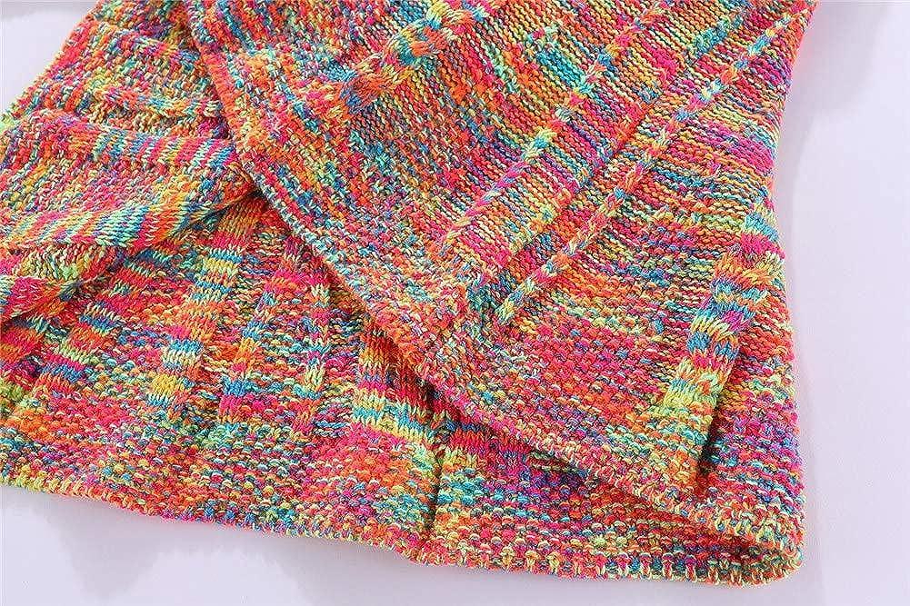 LittleSpring Girls Turn-Down Collar Cardigan Sweater