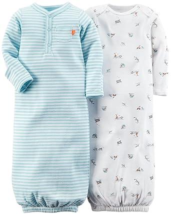 146d873e4a86 Amazon.com: Carter's 2 Pack Print Gowns (Baby) - Light Blue-Preemie ...