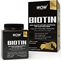 Wow Biotin Maximum Strength Veg Capsule 10,000 mcg - 60 Count