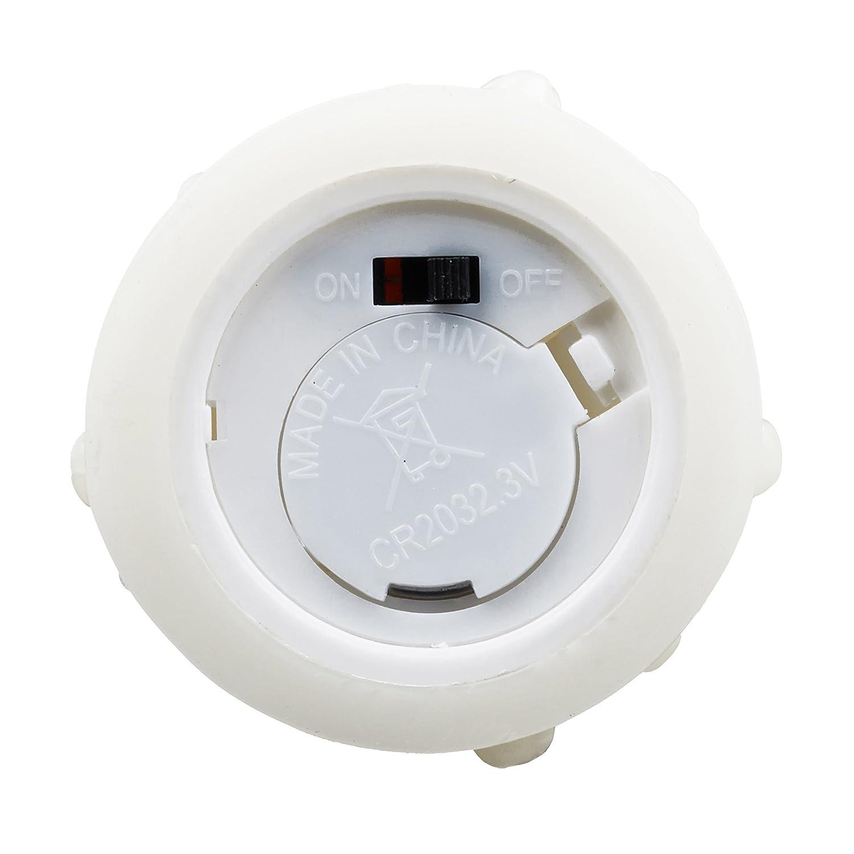 Relaxdays - Juego de 6 Velas LED sin Llama eléctricas, Parpadeante, Funciona con Pilas, 5 cm de diámetro, Color Crema, 5 x 5 x 23 cm: Amazon.es: Hogar