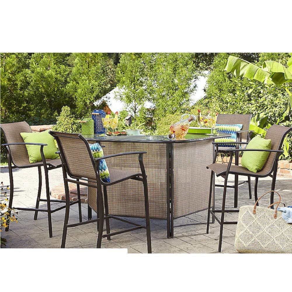 Amazon.com: Harrison Garden Oasis 8 pc. Outdoor Bar Set
