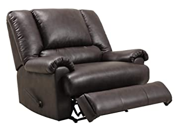 Dorel Living Stanford Faux Leather Overstuffed Extra Wide Recliner Chair,  Brown