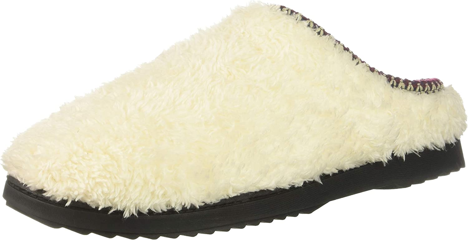 Dearfoams Women's Clog with Woven Trim Slipper