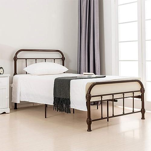 LAGRIMA Bed Twin Size Platform Metal Frame
