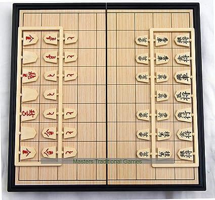 Masters Traditional Games Juego de Viaje magnético de Shogi (Ajedrez Japonés) - 25 cm: Amazon.es: Juguetes y juegos