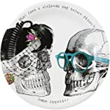 Talking Tables Skeleton Crew Skeleton Design Paper Plates for a Halloween party, Multicolor (8 Pack)