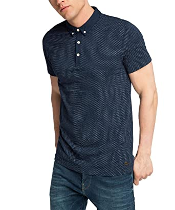 899a8e8f15d ESPRIT Men's Sj AOP Short Sleeve Polo Shirt, Blue (Navy), XXX-Large:  Amazon.co.uk: Clothing