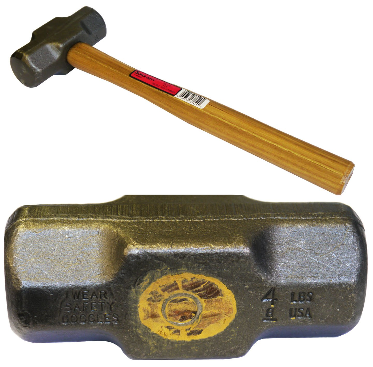 USA 3lb Wooden Handled Double Face Engineer's Hammer