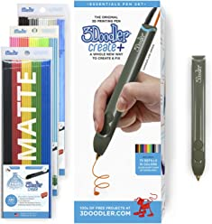 3Doodler Create+ 3D Pen Set with 75 Filament (600 ft. of Extruded Plastic), Camouflage Green, 2018 Model (US-Plug)
