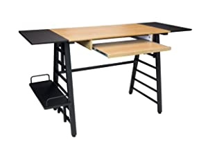 Calico Designs 51240 Convertible Art Drawing/Computer Desk for Kids, Ashwood/Graphite