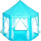 Hexagon Princess Play Tent Pink Kids Play House Large Indoor/Outdoor Tunnel Pop Up Toys for Baby Parent-Child Gift, Summer Shade Toy Play Tent - Conveniently Folds with a Carry Bag