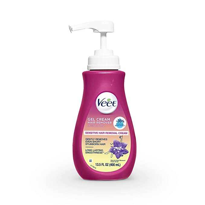Veet Sensitive Hair Remover Gel Cream Pink, 13.5 Fl Oz   Amazon
