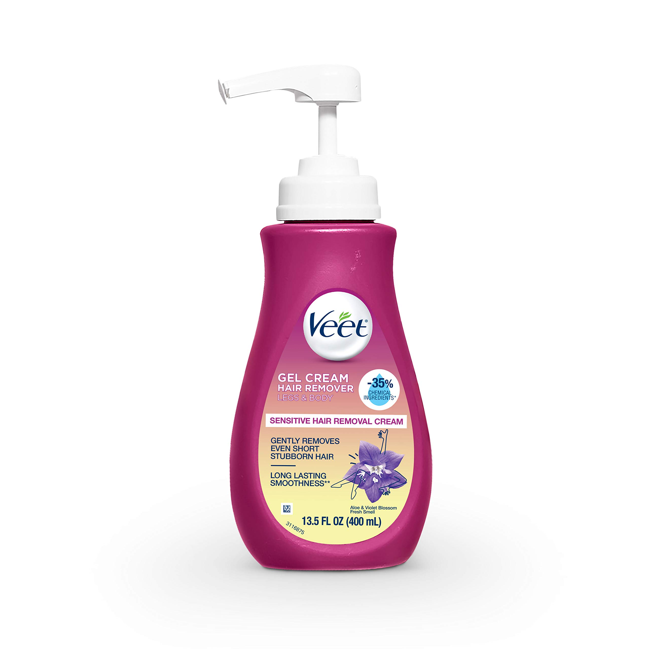 Veet Sensitive Hair Remover Gel Cream Pink, 13.5 Fl Oz