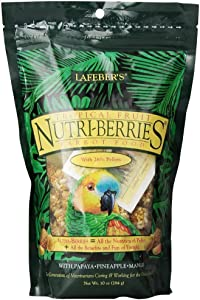 Lafeber's Gourmet Tropical Fruit Nutri-Berries for Parrots 10 oz. Bag