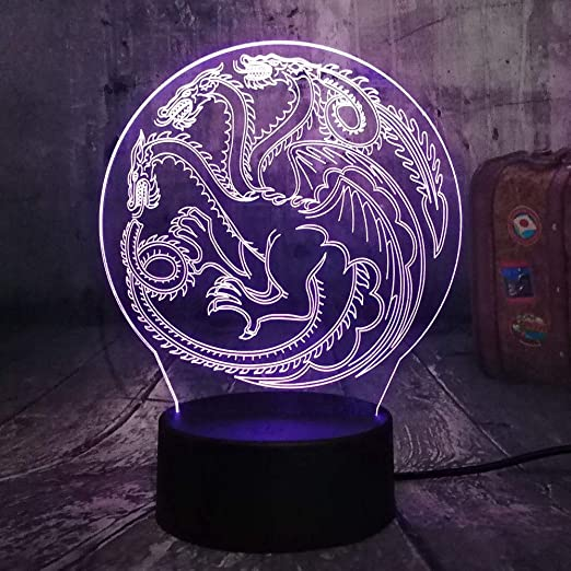 Lámpara De Ilusión 3D Decoración Para El Hogar Juego De Tronos Una Canción De Hielo Y