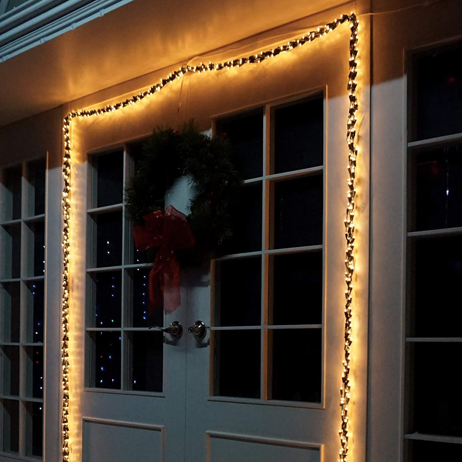 Brite Star 600 Count 'High Density' Lights of Garland with Green Wire, Clear