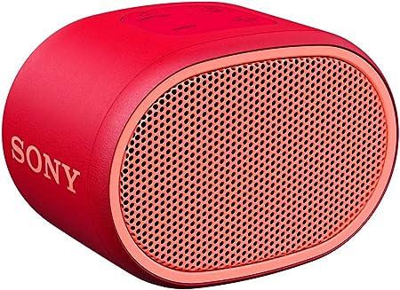 Sony Srs Xb01 Tragbarer Bluetooth Lautsprecher Extra Bass 6h Akku Spritzwassergeschützt Rot Audio Hifi