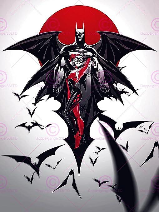 COMIC BOOK CHARACTERS HARLEY QUINN BATMAN BATS 18X24 POSTER ART PRINT LV10020