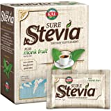 KAL® Sure Stevia™ Extract Powder Plus Monk Fruit (Luo Han) | Best-Tasting, Zero Calorie, Low Glycemic | 100 Single-Serve Packets