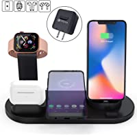 Elaime Fast 4-in-1 Qi Wireless Charging Dock for Apple Devices