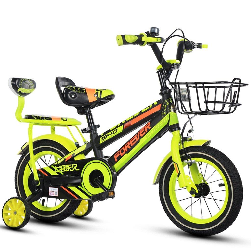 CSQ クリエイティブ自転車、少年少女ペダル自転車子供の頃の自転車2~12歳の赤ちゃんの補助車輪付き自転車88-121CM 子供用自転車 (色 : イエロー いえろ゜, サイズ さいず : 100CM) B07DPNX1QK 100CM|イエロー いえろ゜ イエロー いえろ゜ 100CM
