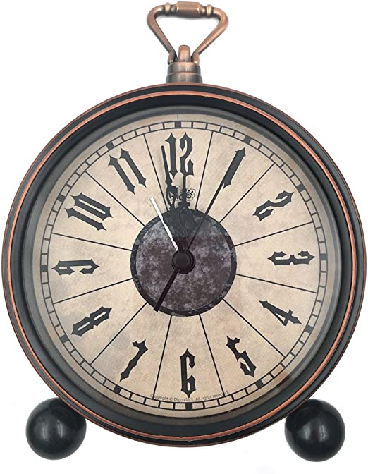 Nikauto Retro Reloj Despertador Vintage Escritorio Pared Estante ...
