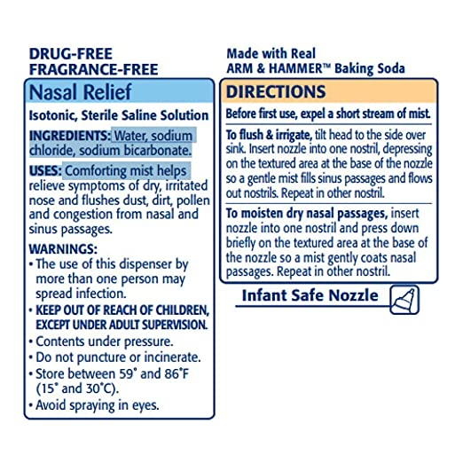 Simply Saline Nasal Mist Baby 1 5 oz