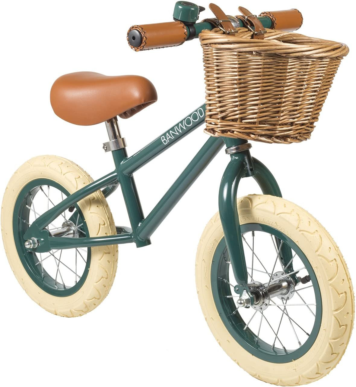 Bicicleta sin pedales, bici de equilibrio, balance bike Banwood color verde