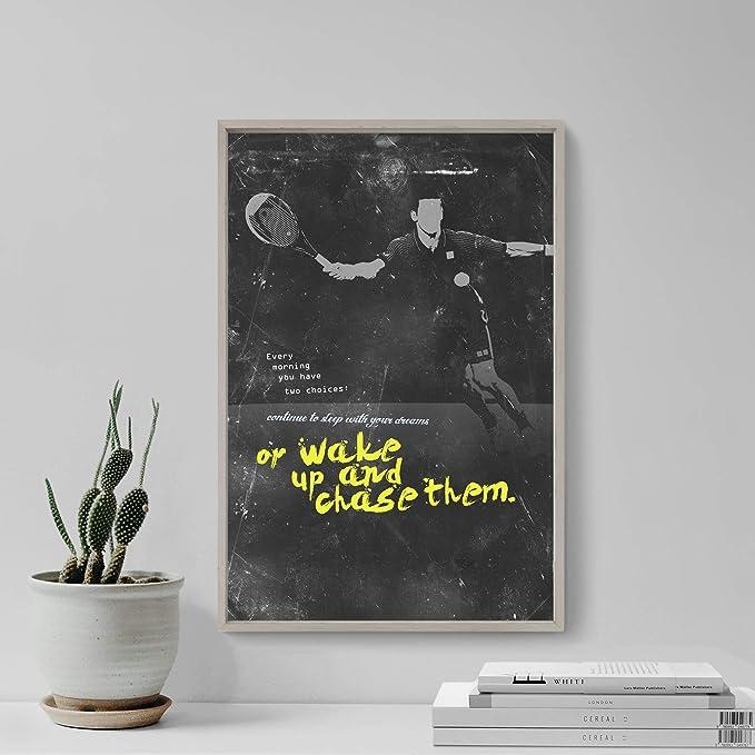 Póster de motivación con imagen de tenis 09