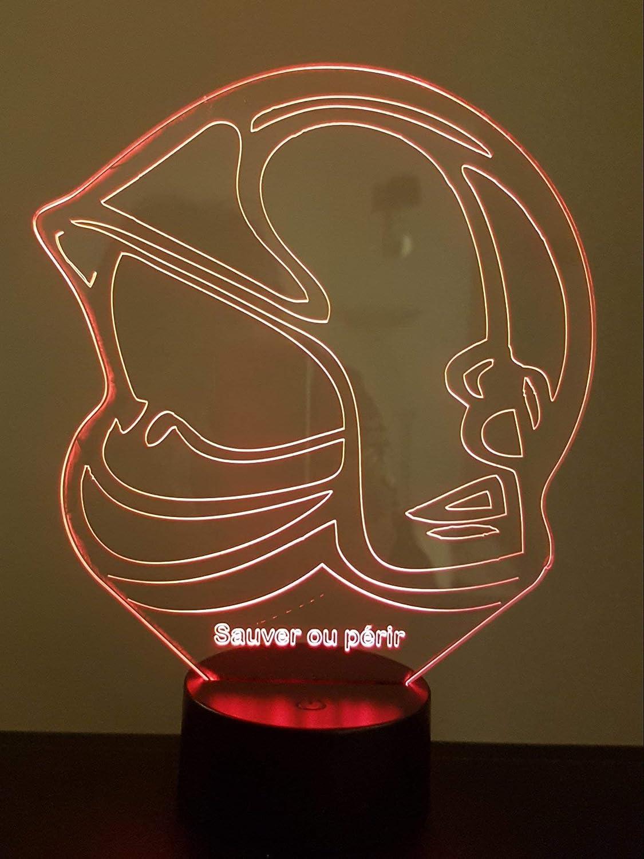 Lampe 3d Motif Casque Pompier F1bspp Paris Decoration De Noel