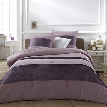 la redoute interieurs aemi en satin de coton couvre lit coton mauve purple - Couvre Lit La Redoute