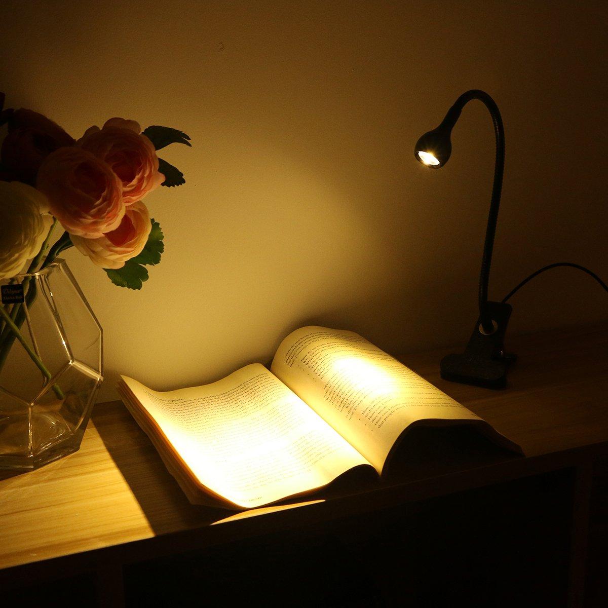 lampada da tavolo//lampada da tavolo per tavolo di scrivania ledmomo lampada di clip in lampada luce da letto comodino a letto e computadoras