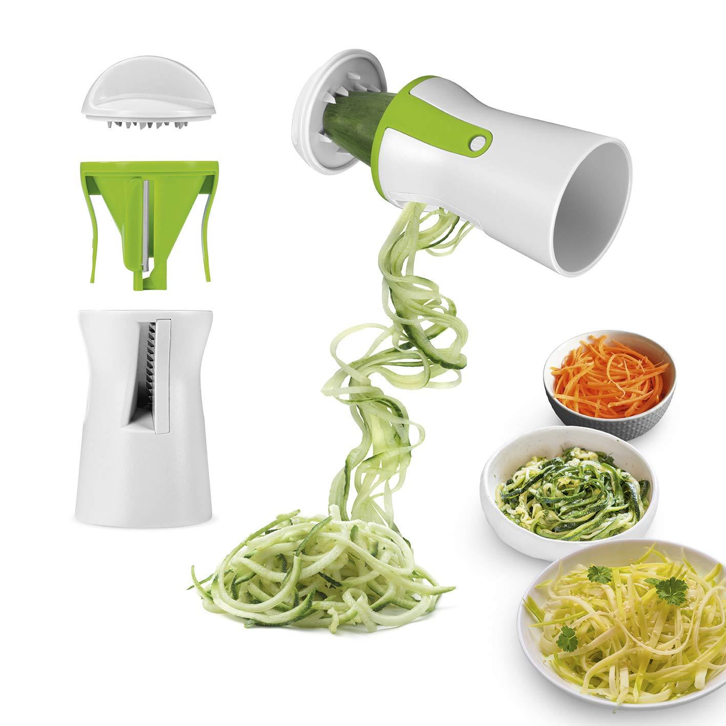 Gourmetmaxx 07293 Julienne Tagliaverdure | Plastica | Bianco/Verde Maxxcuisine
