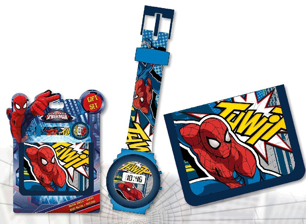 Set regalo reloj digital y billetera de Spiderman