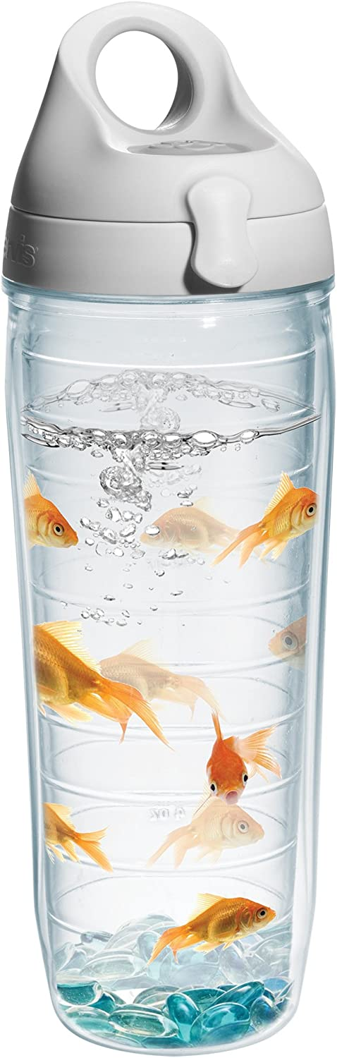 Tervis Goldfish Water Bottle with Lid, 24 oz, Clear - 1101319