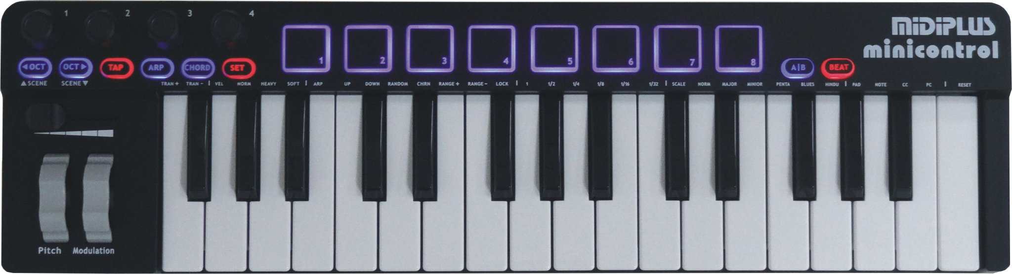 midiplus minicontrol USB MIDI keyboard controller by Midiplus
