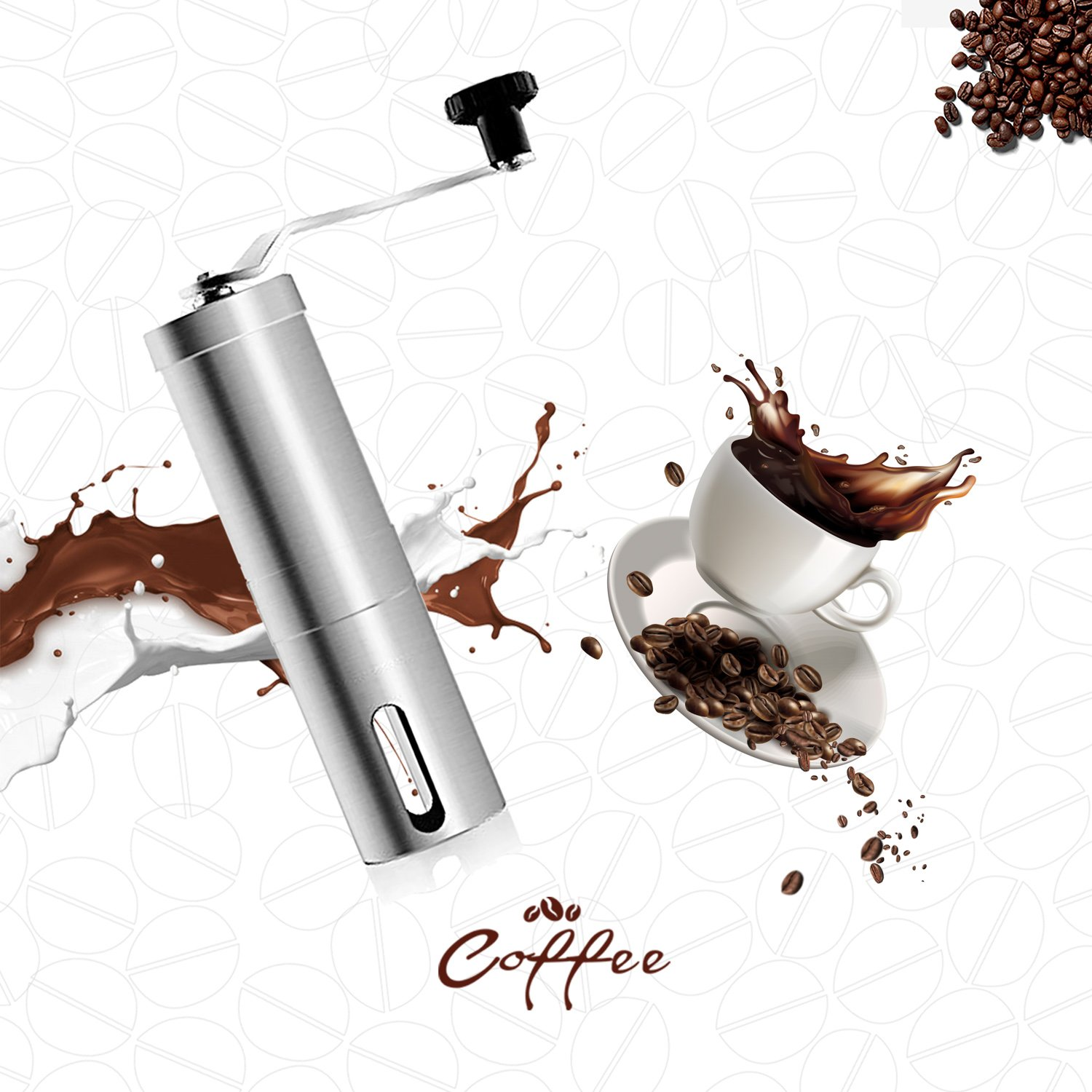Coffee Grinder, Aessdcan Manual Coffee Mill, Mini Portable Home Kitchen Travel Stainless Steel Coffee Bean Grinder with Adjustable Ceramic Core by Aessdcan (Image #7)