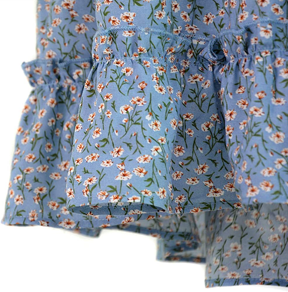 con Estampado de Flores Cintura Alta Estilo Bohemio Falda de Verano para Mujer Nanomi Beauty Floral