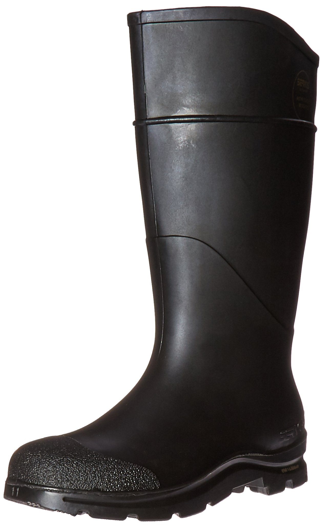 Radnor 64055865 16'' PVC Economy Boots, Lugged Outsole Steel Toe, Size 11, Black